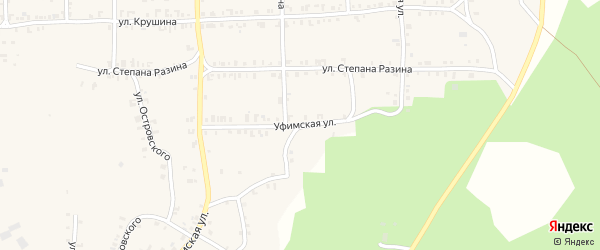 Уфимская улица на карте Нязепетровска с номерами домов