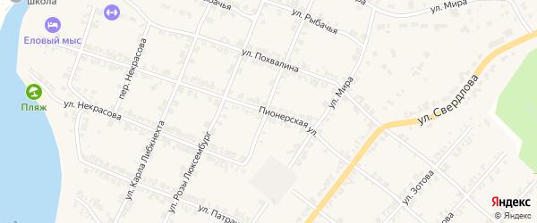 Пионерская улица на карте Нязепетровска с номерами домов