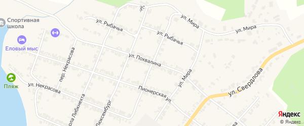 Рабочий переулок на карте Нязепетровска с номерами домов
