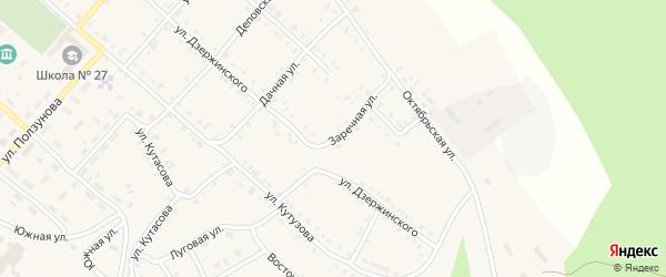 Заречная улица на карте Нязепетровска с номерами домов