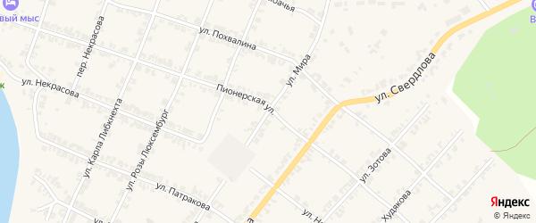 Улица Мира на карте деревни Постниково с номерами домов