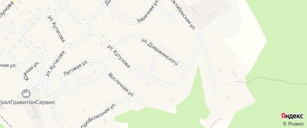 Коммунистическая улица на карте Нязепетровска с номерами домов