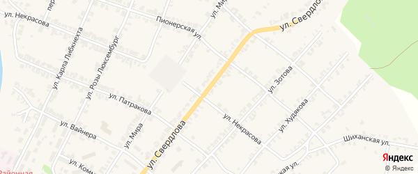 Улица Свердлова на карте Нязепетровска с номерами домов