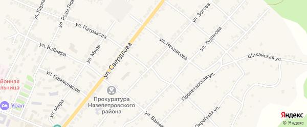Улица Зотова на карте Нязепетровска с номерами домов