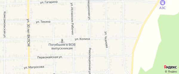 Революционная улица на карте Нязепетровска с номерами домов