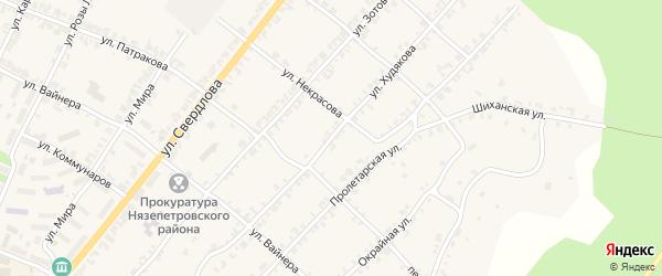 Улица Худякова на карте Нязепетровска с номерами домов