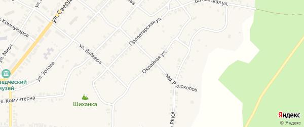 Окрайная улица на карте Нязепетровска с номерами домов
