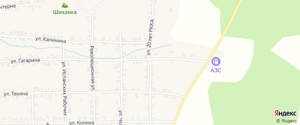 Улица 20 лет РККА на карте Нязепетровска с номерами домов