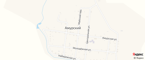 Рабочая улица на карте Амурского поселка с номерами домов