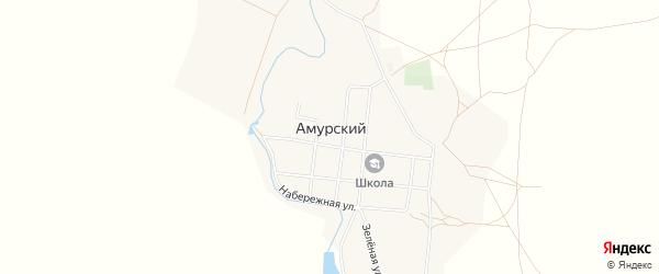 Карта Амурского поселка в Челябинской области с улицами и номерами домов