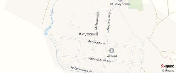 Верхний переулок на карте Амурского поселка с номерами домов