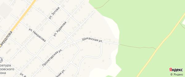 Шиханская улица на карте Нязепетровска с номерами домов