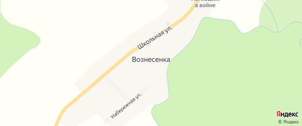 Набережная улица на карте села Вознесенки с номерами домов