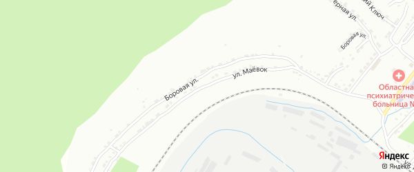 Улица Маевок на карте Златоуста с номерами домов