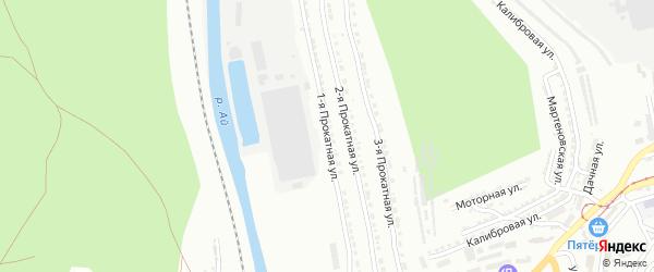 Прокатная 1-я улица на карте Златоуста с номерами домов