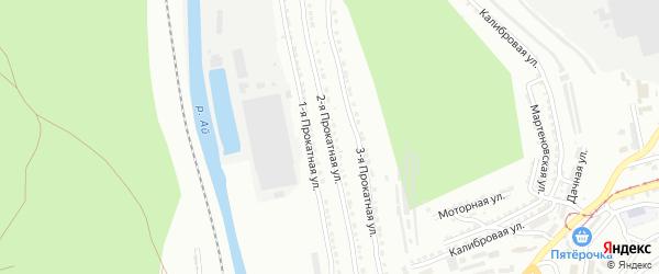 Прокатная 2-я улица на карте Златоуста с номерами домов