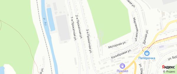 Прокатная 3-я улица на карте Златоуста с номерами домов