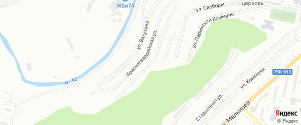 Улица им В.В.Талалихина на карте Златоуста с номерами домов