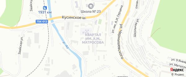 Участок Блокпост на карте Златоуста с номерами домов