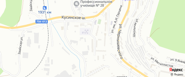 Участок Орловский кордон на карте Златоуста с номерами домов