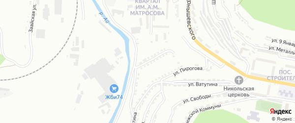 Территория ГК По Отечественной на карте Златоуста с номерами домов