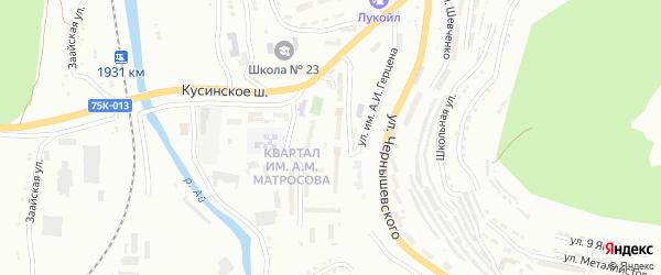 Квартал им А.М.Матросова на карте Златоуста с номерами домов