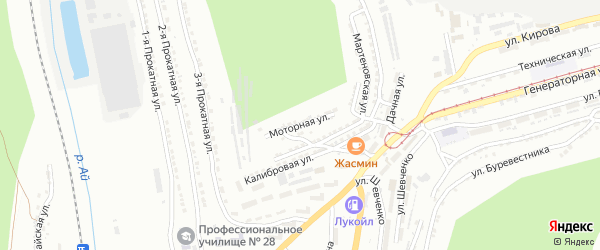Моторная улица на карте Златоуста с номерами домов