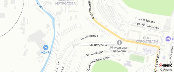 Улица им Н.И.Пирогова на карте Златоуста с номерами домов