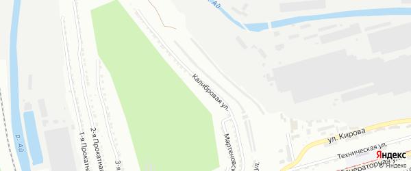 Калибровая улица на карте Златоуста с номерами домов