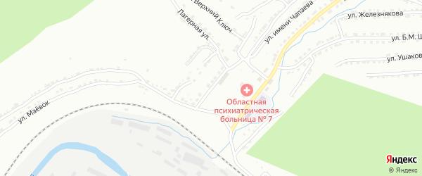 Верхне-Копровая улица на карте Златоуста с номерами домов