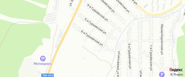 Гурьевская 6-я улица на карте Златоуста с номерами домов