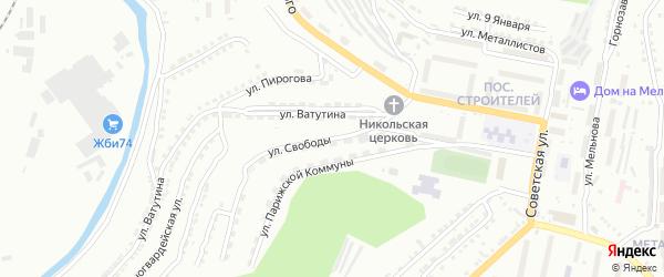 Улица Свободы на карте Златоуста с номерами домов