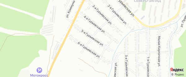 Гурьевская 5-я улица на карте Златоуста с номерами домов