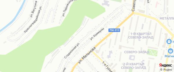 Стадионная улица на карте Златоуста с номерами домов