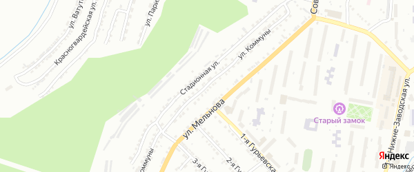Улица Коммуны на карте Златоуста с номерами домов
