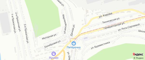 Дачная улица на карте поселка Салгана с номерами домов