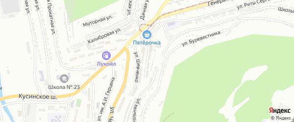 Улица им Т.Г.Шевченко на карте Златоуста с номерами домов