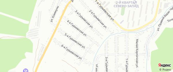 Гурьевская 4-я улица на карте Златоуста с номерами домов
