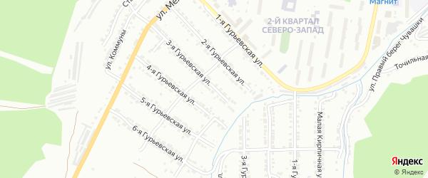 Гурьевская 3-я улица на карте Златоуста с номерами домов