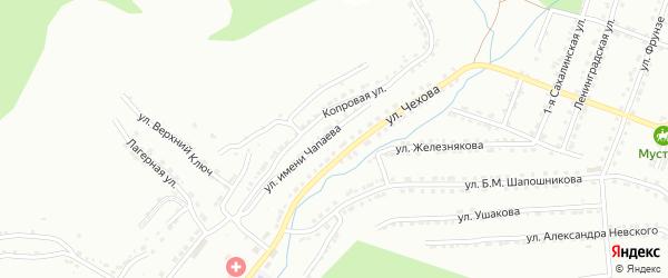 Улица им В.И.Чапаева на карте Златоуста с номерами домов