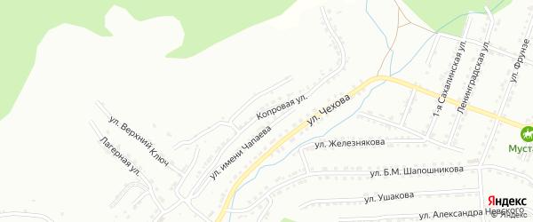 Копровая улица на карте Челябинска с номерами домов