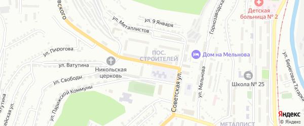 Улица Строителей на карте Златоуста с номерами домов