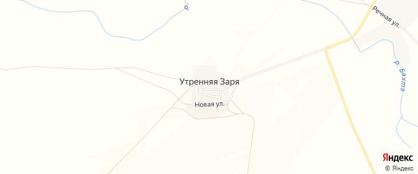 Карта поселка Утренней Зари в Челябинской области с улицами и номерами домов