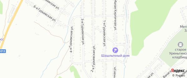 Заайская 2-я улица на карте Златоуста с номерами домов