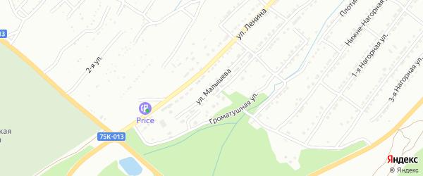 Улица Малышева на карте поселка Тундуша с номерами домов