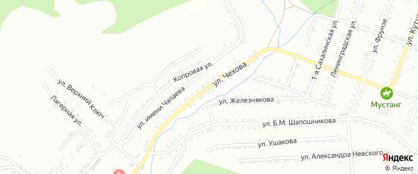 Улица им А.П.Чехова на карте Златоуста с номерами домов