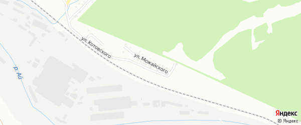 Улица им А.Ф.Можайского на карте Златоуста с номерами домов