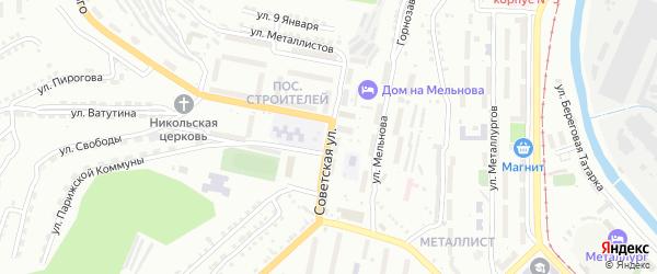 Советская улица на карте поселка Тайнака с номерами домов