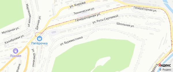 Улица Буревестника на карте Златоуста с номерами домов