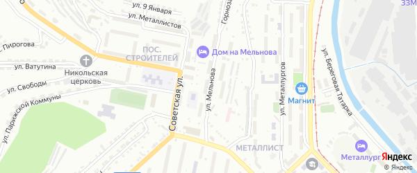 Улица им И.М.Мельнова на карте Златоуста с номерами домов